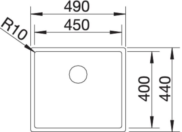 Blanco CLARON 450-IF InFino Nerez hedvábný lesk  bez táhla