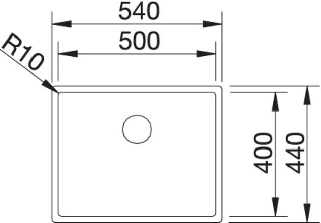 Blanco CLARON 500-IF InFino Nerez hedvábný lesk  bez táhla