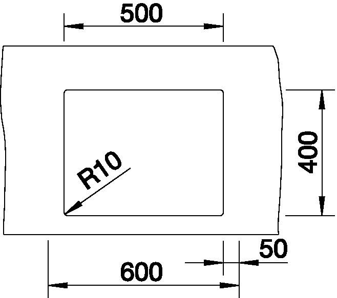 Blanco CLARON STYLE 500-U Nerez hedvábný lesk  bez táhla