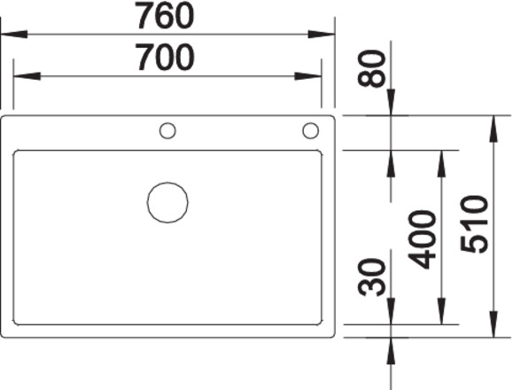Blanco CLARON 700-IF/A InFino Nerez hedvábný lesk s táhlem