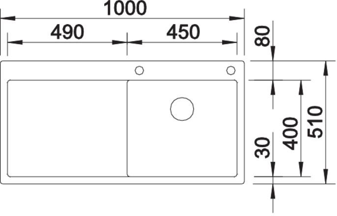 Blanco CLARON 5 S-IF InFino Nerez hedvábný lesk dřez vlevo s táhlem