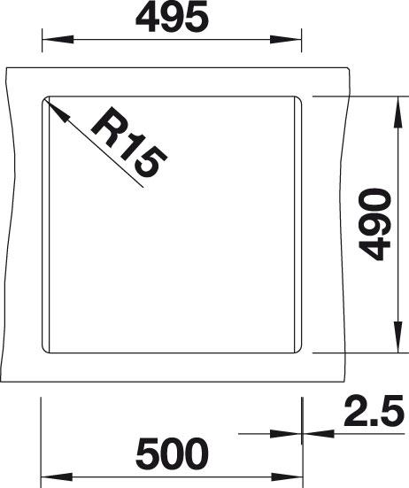 Blanco DALAGO 5 Silgranit antracit oboustranné provedení s excentrem