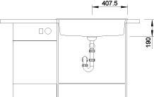 Blanco DALAGO 8 Silgranit tartufo oboustranné provedení s excentrem