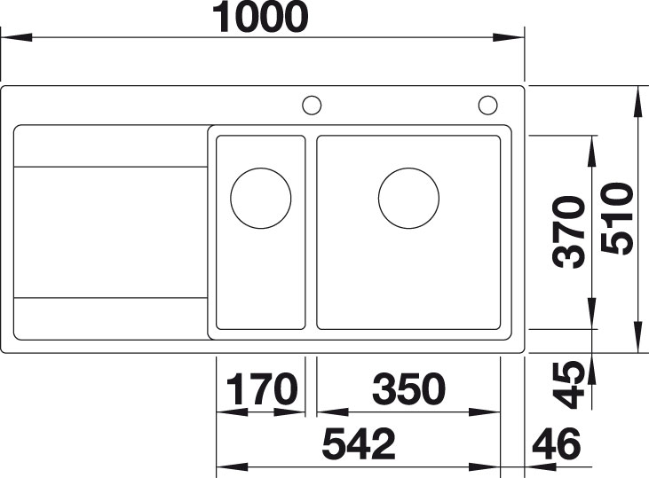 Blanco DIVON II 6 S-IF InFino Nerez hedvábný lesk dřez vlevo s excentrem