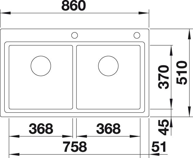 Blanco DIVON II 8 IF InFino Nerez hedvábný lesk oboustranné provedení s excentrem
