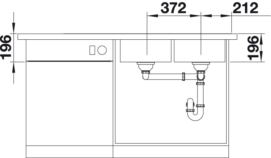 Blanco DIVON II 8 S-IF InFino Nerez hedvábný lesk dřez vpravo s excentrem