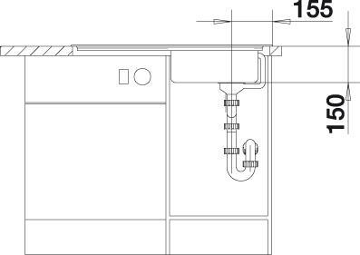 Blanco TOP EES 8 x 4 Nerez přírodní lesk oboustranné provedení+222458
