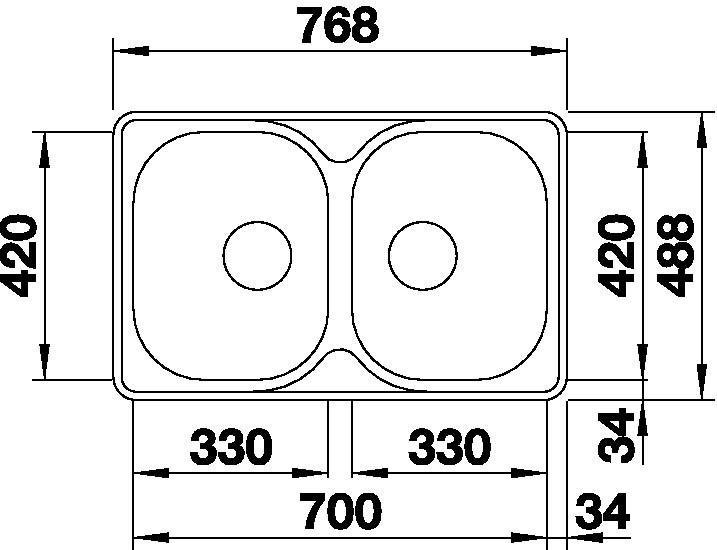 Blanco LANTOS 8-IF Compact nerez kartáčovaný bez excentru