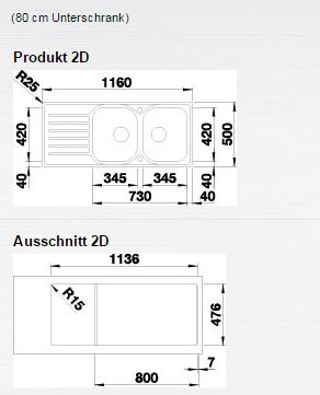 Blanco LANTOS 8 S-IF Compact nerez kartáčovaný oboustranné provedení  s excentrem