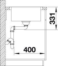 Blanco LEMIS 45 S-IF nerez kartáčovaný s excentrem