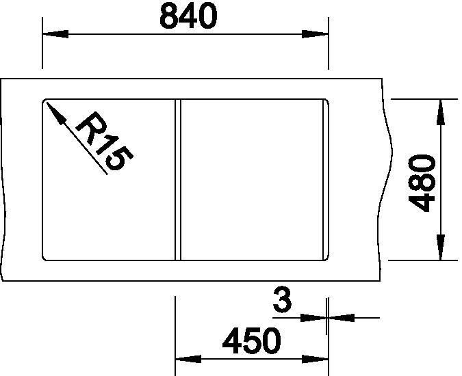 Blanco LEXA 45 S Silgranit šedá skála oboustranné provedení