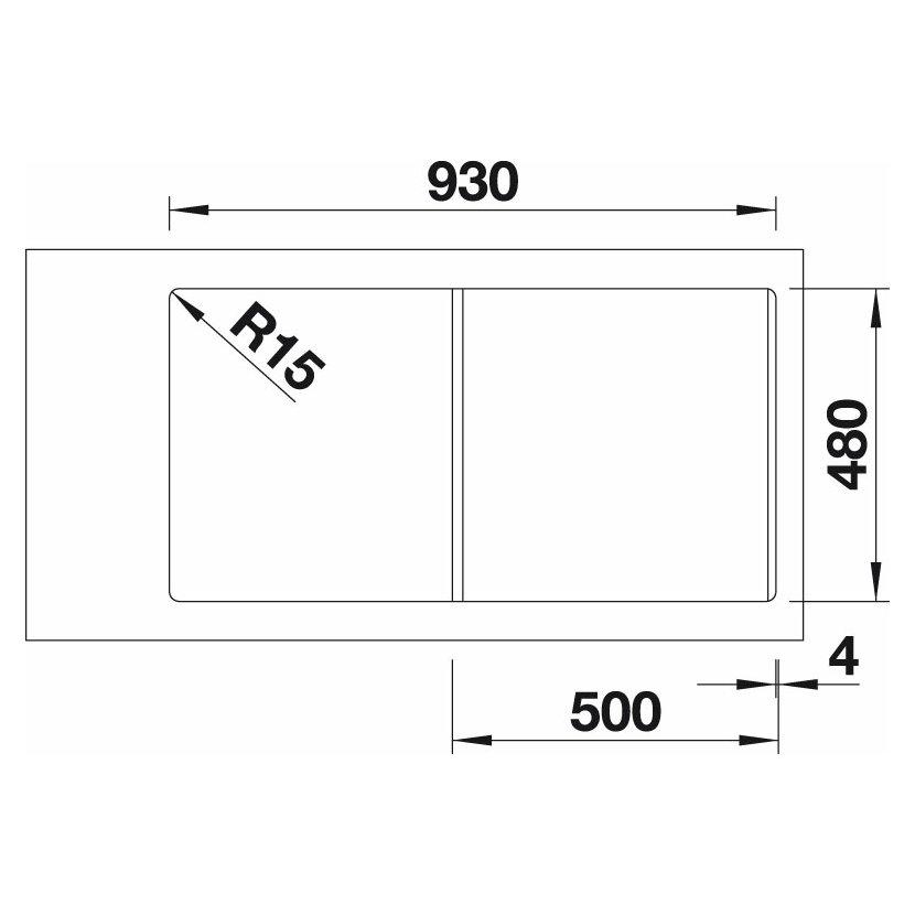 blanco lexa 5 s silgranit perlov ed oboustrann proveden s excentrem. Black Bedroom Furniture Sets. Home Design Ideas