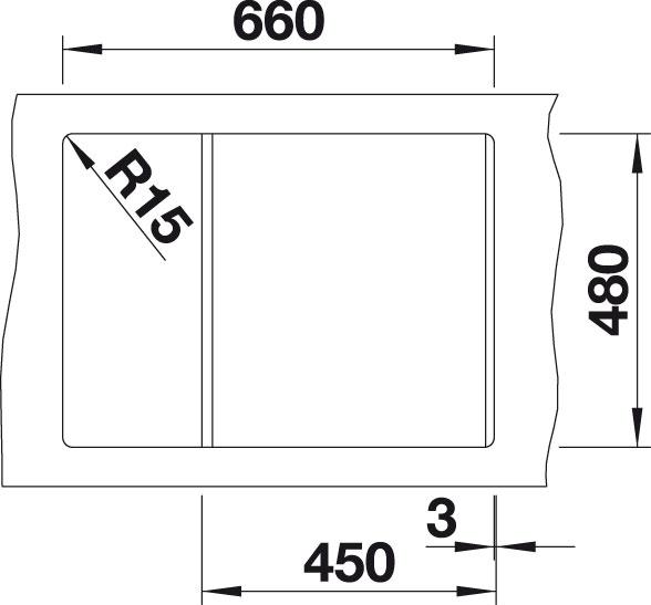 Blanco METRA 45 S Compact Silgranit bílá oboustranné provedení s excentrem