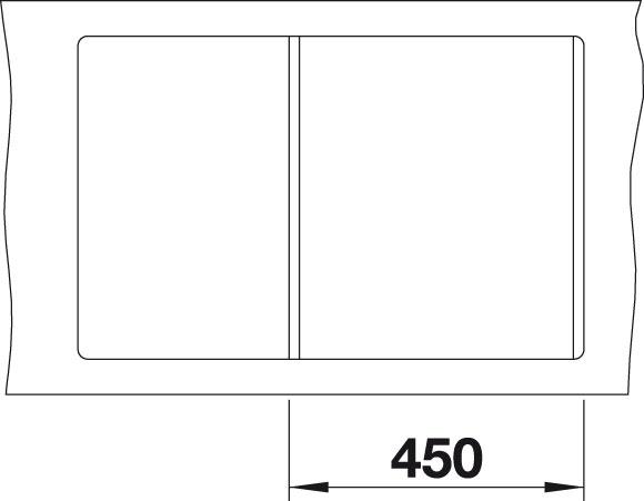 Blanco METRA 45 S F Silgranit aluminium oboustranné provedení s excentrem