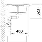 Blanco METRA 5 S Silgranit šedá skála oboustranné provedení s excentrem