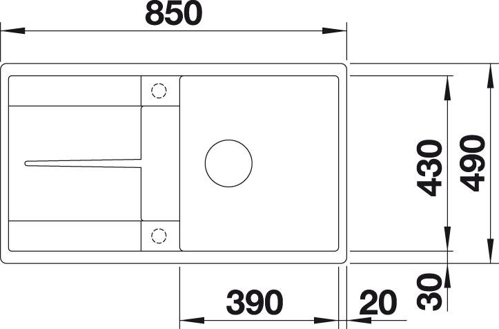 Blanco METRA 5 S F Silgranit antracit oboustranné provedení s excentrem