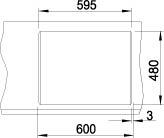 Blanco METRA 6 Silgranit šperlově šedá oboustranné provedení