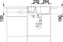 Blanco METRA 6 Silgranit jasmín oboustranné provedení s excentrem