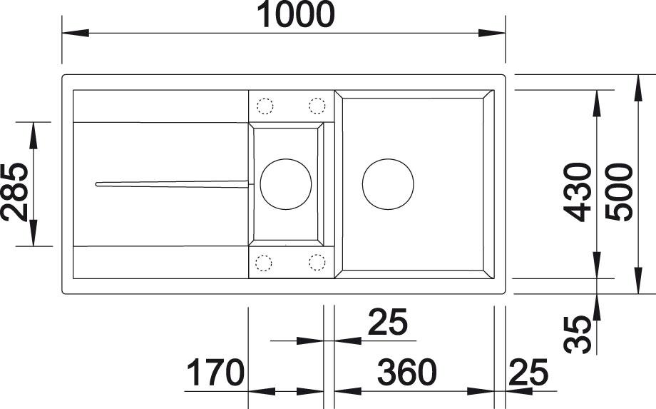Blanco METRA 6 S Silgranit šedá skála oboustranné provedení přísluš. ano