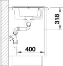 Blanco METRA 6 S Compact Silgranit šedá skála oboustranné provedení s excentrem