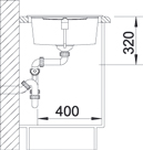 Blanco METRA XL 6 S Silgranit aluminium oboustranné provedení s excentrem