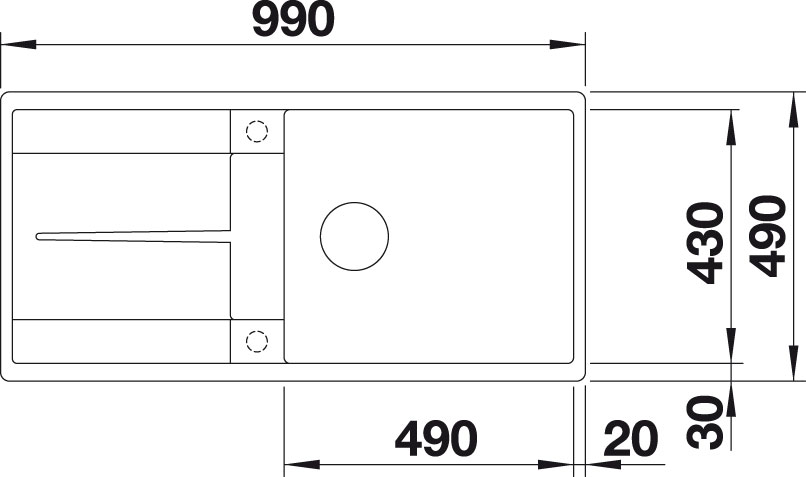 Blanco METRA XL 6 S F Silgranit bílá oboustranné provedení s excentrem