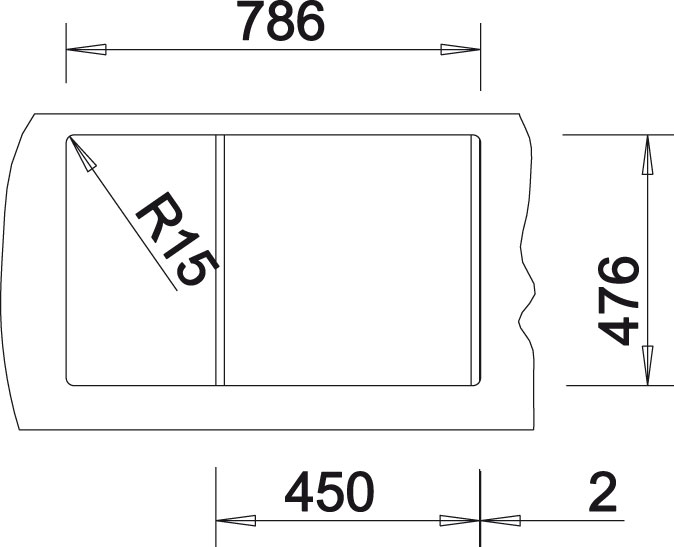 Blanco NOVA 45 S Silgranit antracit oboustranné provedení