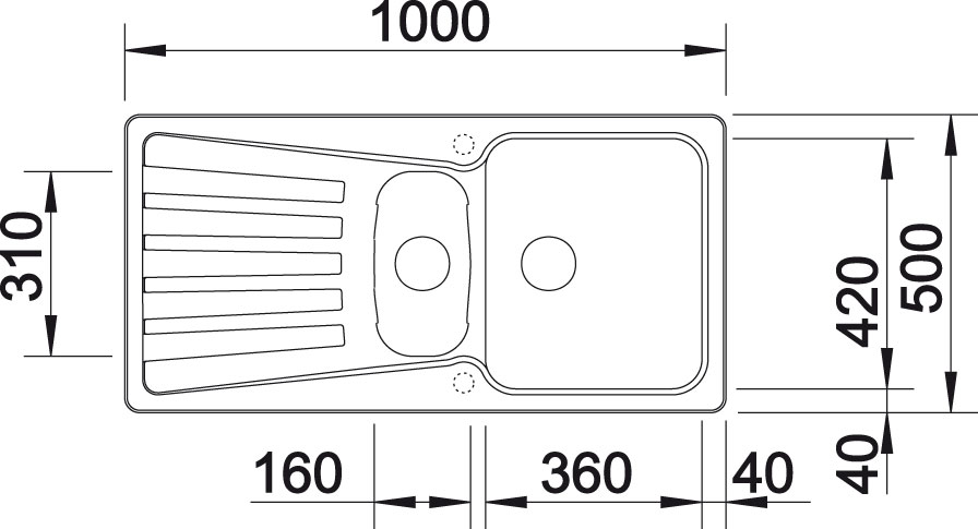 Blanco NOVA 6 S Silgranit tartufo oboustranné provedení s excentrem