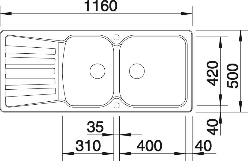 Blanco NOVA 8 S Silgranit tartufo oboustranné provedení