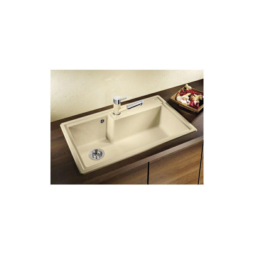 blanco antas s hd silgranit look dvoubarevn aluminium chrom. Black Bedroom Furniture Sets. Home Design Ideas