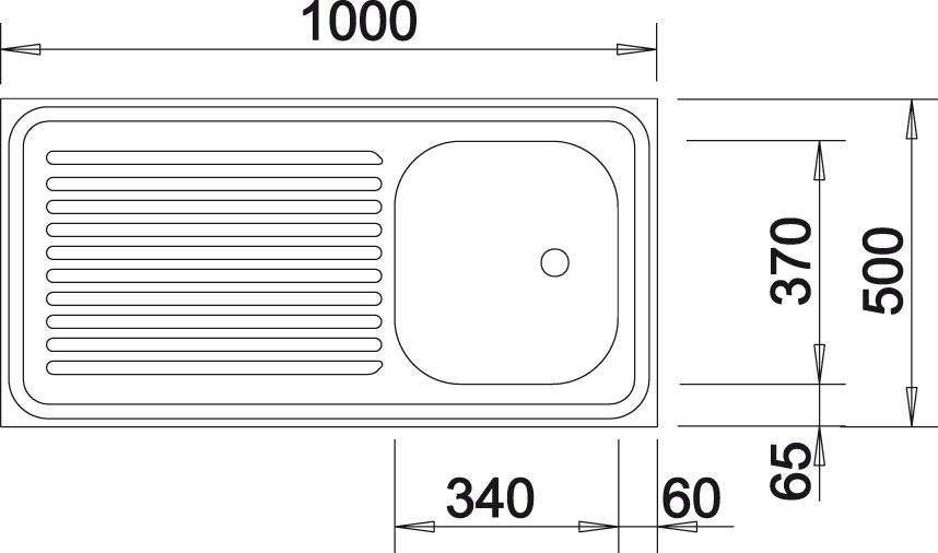 Blanco R-ES 10x5 Nerez přírodní lesk oboustranné provedení +amatura 222458