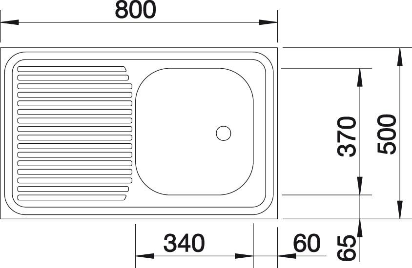 Blanco R-ES 8x5 Nerez přírodní lesk oboustranné provedení +armatura 222458