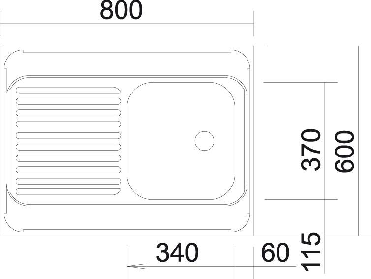 Blanco R-ES 8x6 Nerez přírodní lesk oboustranné provedení +armatura 222458