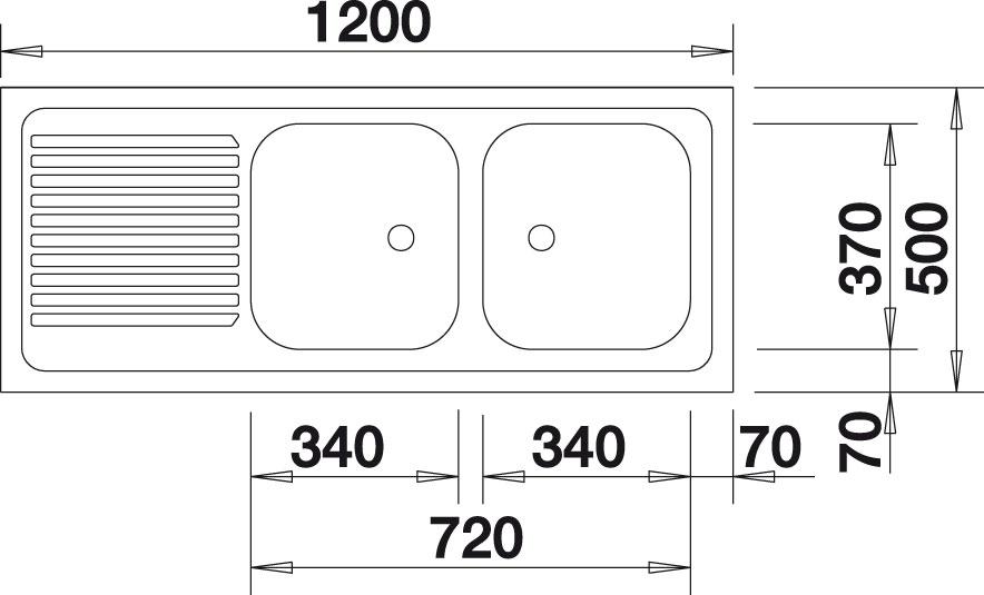 Blanco R-ZS 12x5-2 Nerez přírodní lesk oboustranné provedení