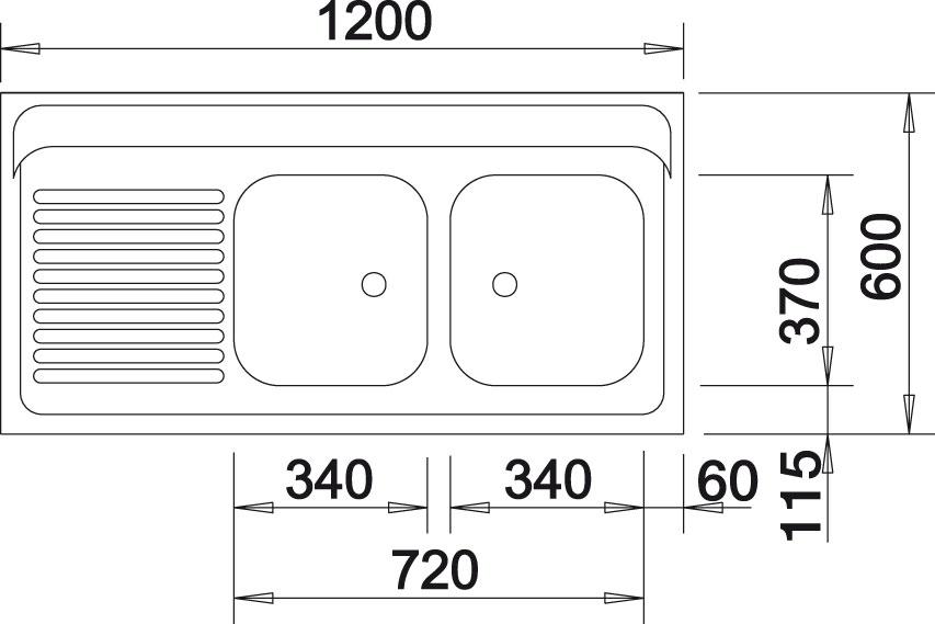 Blanco R-ZS 12x6-2 Nerez přírodní lesk oboustranné provedení