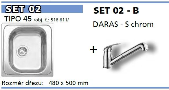 SET Tipo 45 přírodní lesk + DARAS - S chrom