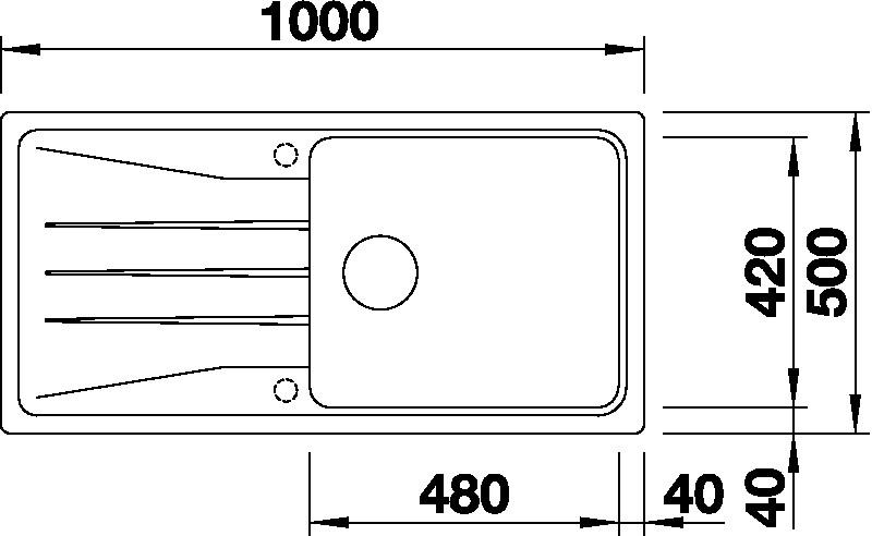 Blanco SONA XL 6 S Silgranit antracit oboustranné provedení