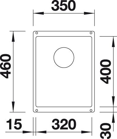 Blanco SUBLINE 320-U Silgranit tartufo  bez táhla