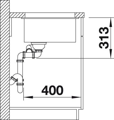 Blanco SUBLINE 340/160 U Silgranit šedá skála bez táhla dřez vlevo