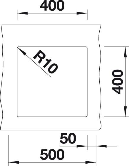 Blanco SUBLINE 400 U Silgranit bílá  bez táhla