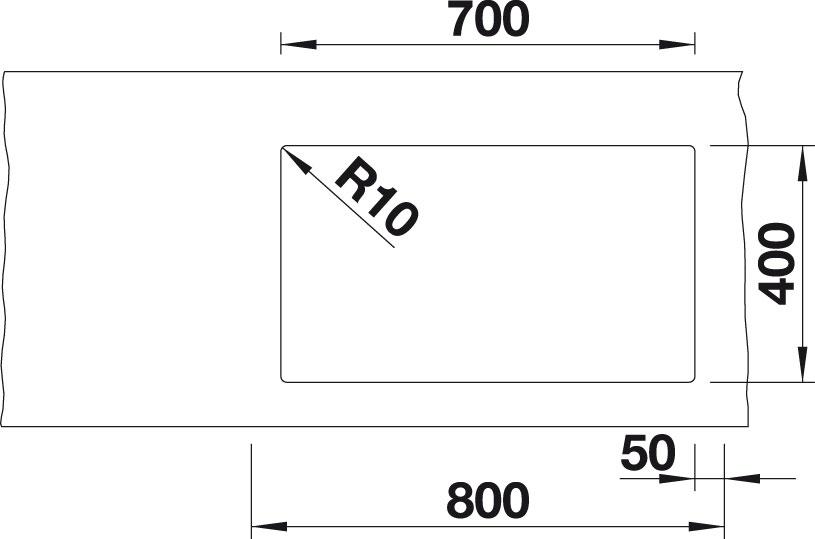 Blanco SUBLINE 700 U Level Silgranit kávová dřez vlevo s táhlem