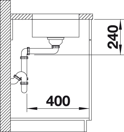 Blanco SUPRA 180 U Nerez kartáčovaný oboustranné provedení bez táhla