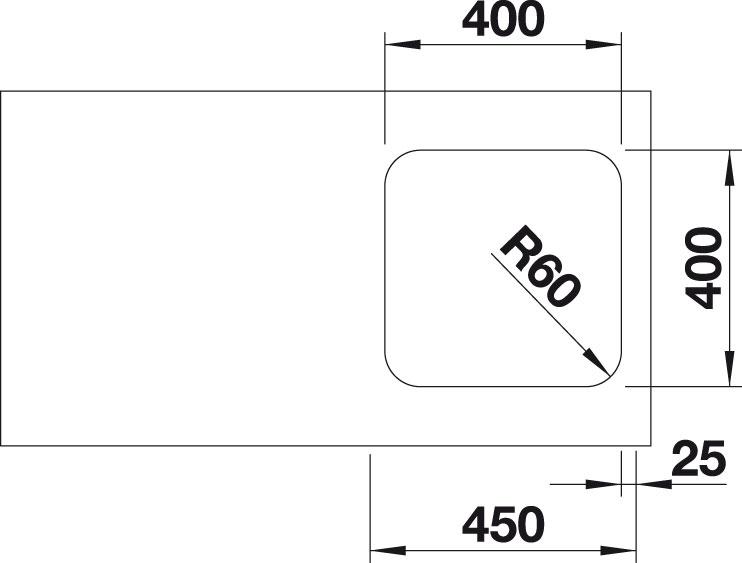 Blanco SUPRA 400 U Nerez kartáčovaný oboustranné provedení bez táhla