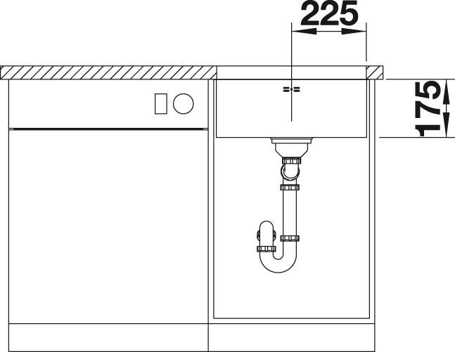 Blanco SUPRA 450 U Nerez kartáčovaný oboustranné provedení bez táhla