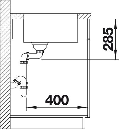 Blanco SUPRA 500 U Nerez kartáčovaný oboustranné provedení bez táhla