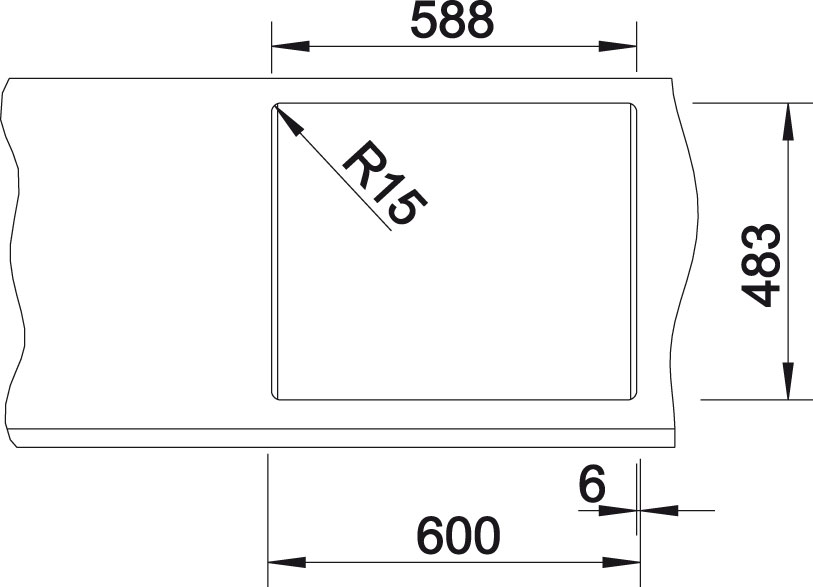 Blanco TIPO 6 Basic Nerez kartáčovaný oboustranné provedení