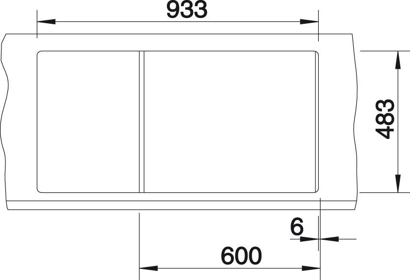 Blanco TIPO 6 S Nerez kartáčovaný oboustranné provedení