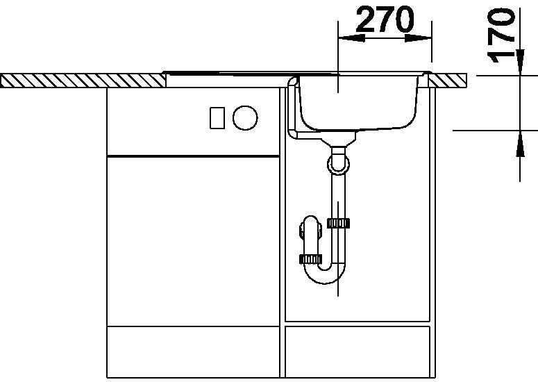 Blanco TIPO 45 S Compact Nerez přírodní lesk oboustranné provedení