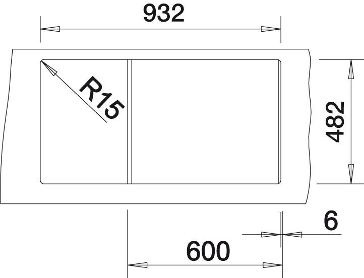 Blanco TIPO XL 6 S Nerez kartáčovaný oboustranný