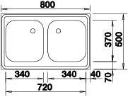 Blanco Z 8x5 Nerez přírodní lesk nástavný dvoudřez +armatura 504748